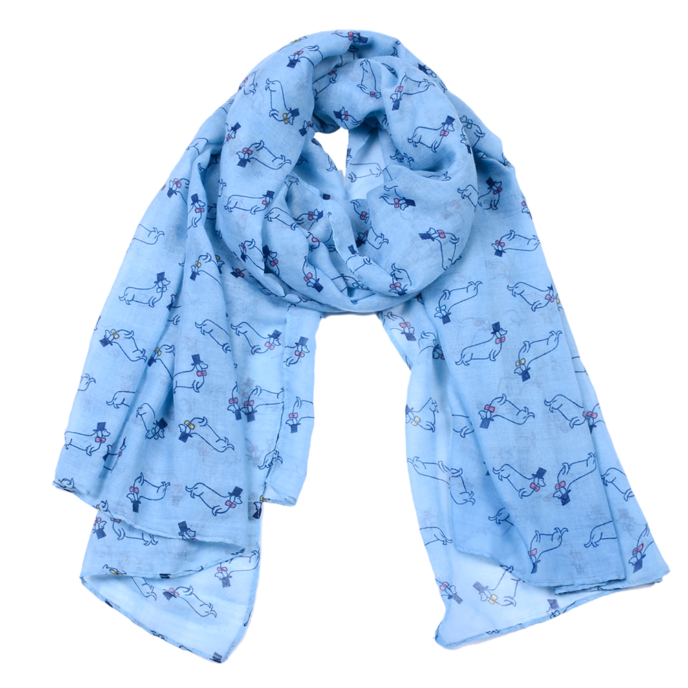 New Seven color Scarf Dachshund Dog Print Scarfs For Women Spring Autumn Shawl and Scarves ladies infinity scarf For beach dress