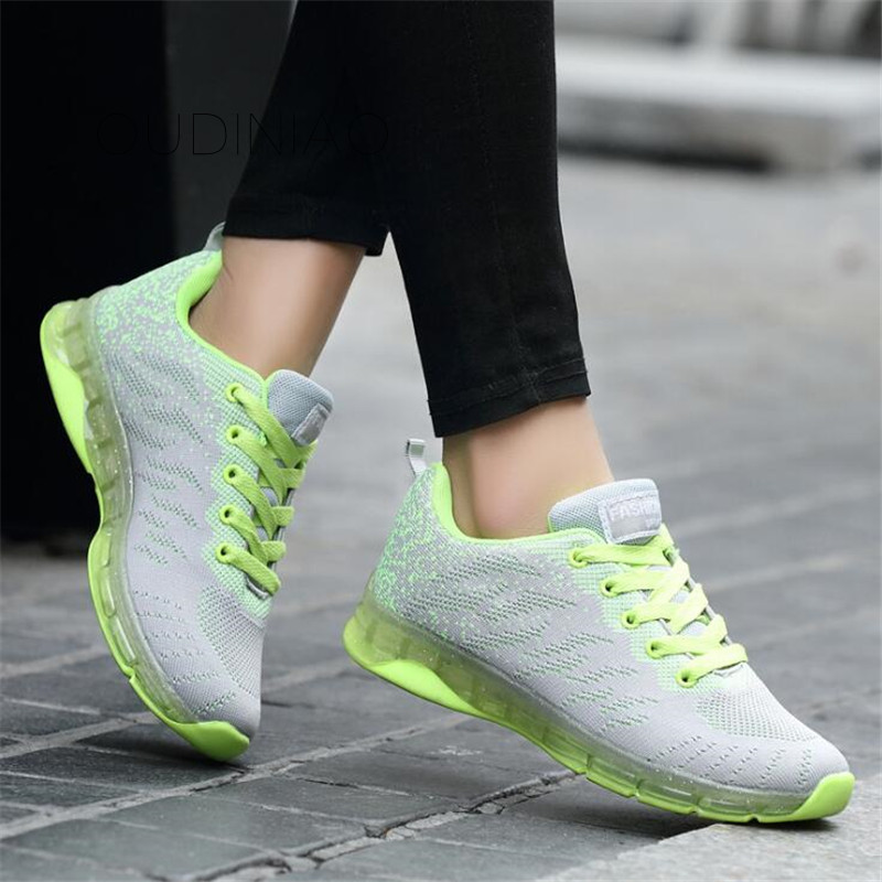 Brand 2019 Breathable Mesh Women Casual Shoes Vulcanize Female Fashion Sneakers Lace Up Soft High Leisure Footwears Tenis 42