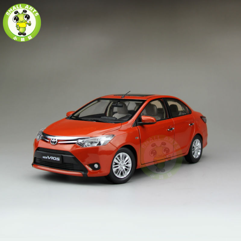 1:18 Toyota New Vios Diecast Car Model Orange Color boomboost 2 pcs car accessory daytime running lights for f ord k uga or e scape 2013 2015 car styling