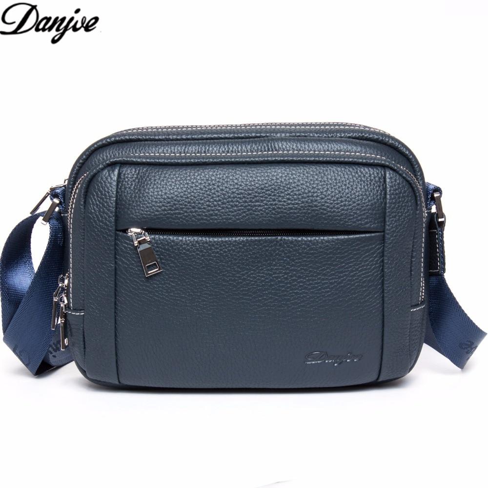 DANJUE Brand 100% Genuine Leather Men Messenger Bag Casual Crossbody Bag Business Men's Handbag Bags for Gift Shoulder Bag 8053 neumann tlm 103 studio set