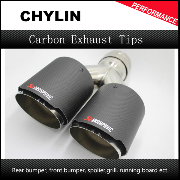 "2.5/"" Inlet 3.875/"" Outlet Dual Chrome S//S Exhaust Muffler Titanium Burnt Blue Tip"