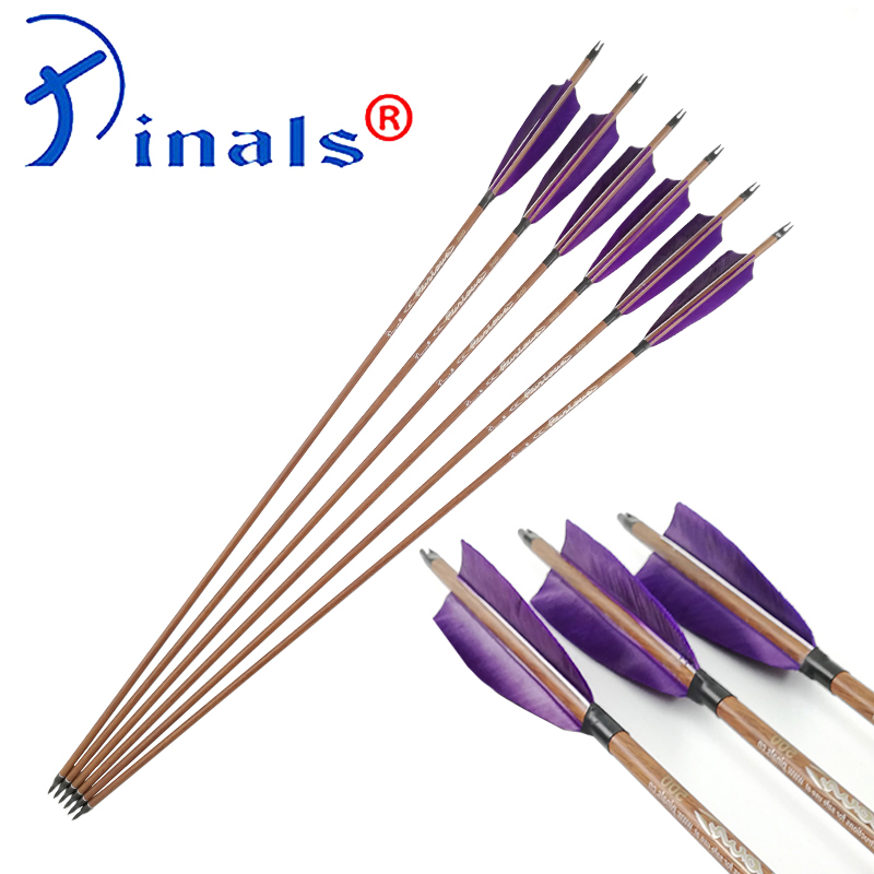 Inals Archery Spine 400 500 600 Carbon Arrows ID 6 2mm Shafts Turkey Feathers 100gr Points