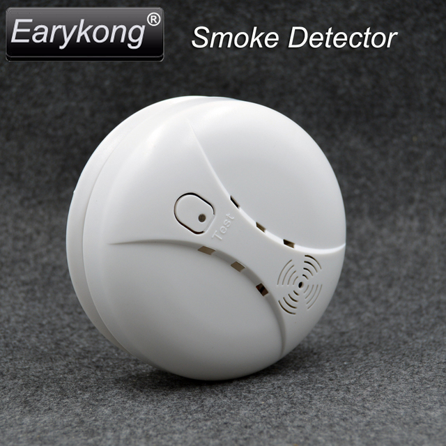 New Earykong Free Shipping Wireless Home burglar GSM Alarm System, Include wireless Smoke Alarm & Door window infrared, M2B
