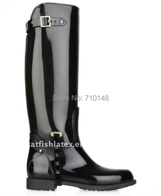 fetish boots Mens rubber