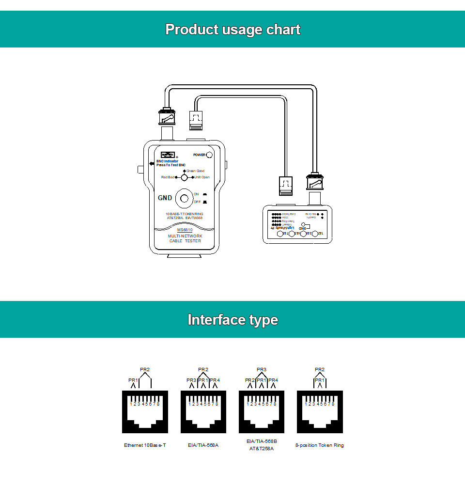 Network Cable Tester Mastech Ms6810 High Speed Testing Multi Rj45 Circuit Schematic 1cable 1english User Manual 1pouch Bag