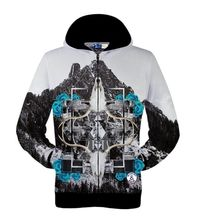2016 neue Hoodies Sweatshirts 3D Print Rot Roboter Schafe Im Herbst/Winter Stadt Golden Skull Flügel männer Kapuzen strickjacke Sweatshirt