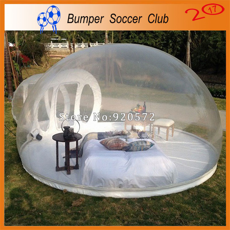 Free shipping! Free Pump ! Clear Inflatable Dome Tent Inflatable Bubble Tent Transparent Inflatable Tent For Outdoor Camping