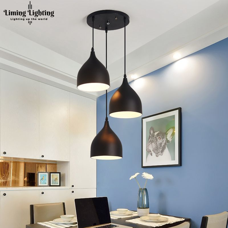 3 Color Modern Ceiling Lamp Light Metal Pendant Lighting Fixtures Home Restaurant Dining Room Kitchen Decor E27 110~220V 10x50 binoculars telescope hd wide angle portable lll night vision waterproof scope compass not infrared measure the distance