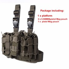 Tactical Military 1000D NylonCamouflage Drog Leg Thigh Magazine Pouch 5.56mm and Pistol Mag Airsoftsports Paintball Hunting Gear