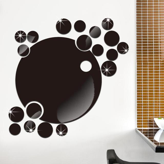 diy dekorasi dinding stiker gelembung putaran acrylic wall sticker