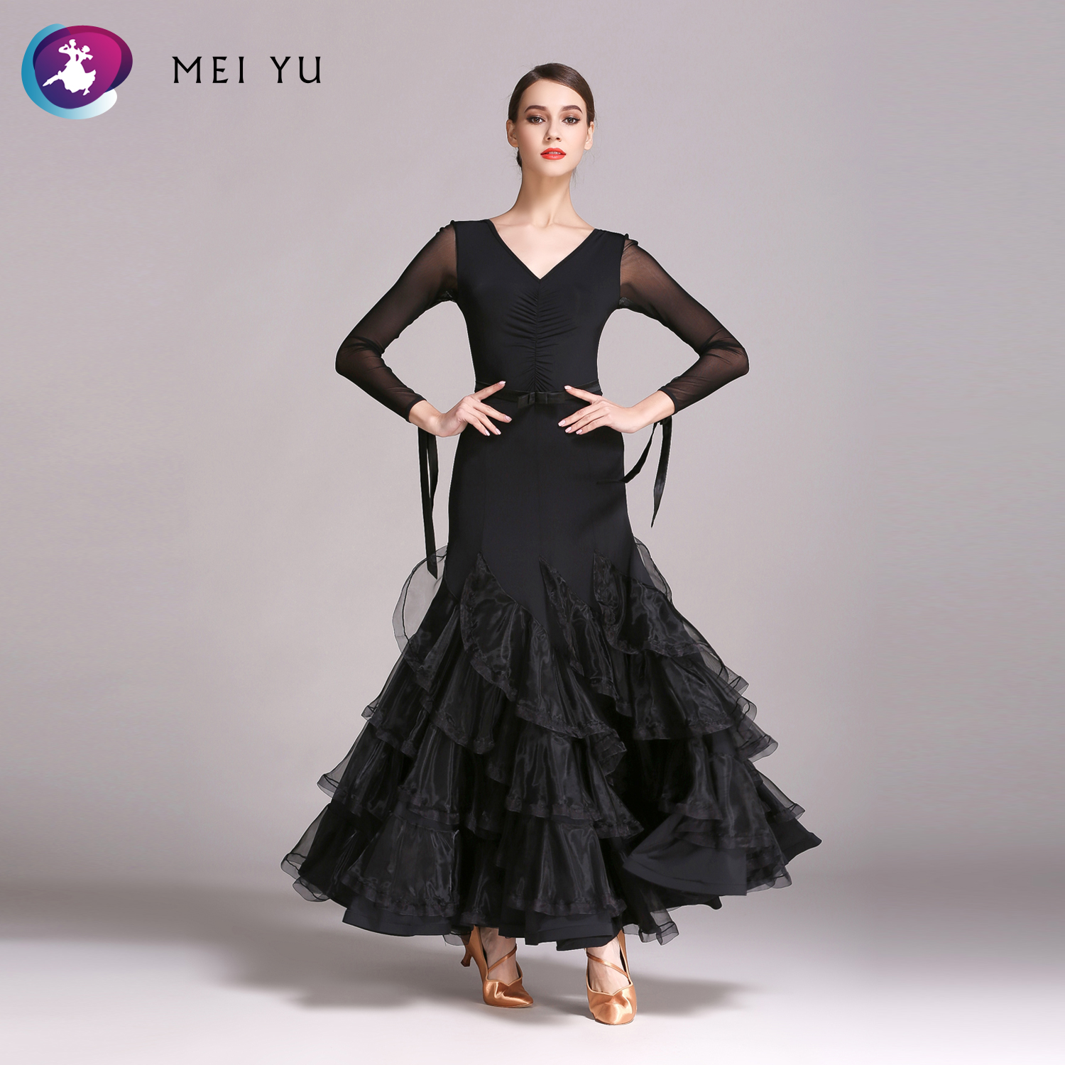 Novelty & Special Use Sweet-Tempered Mei Yu Gb490 Modern Dance Costume Women Lady Adult Dancewear Waltzing Tango Fish-tail Ballroom Costume Evening Party Dress Stage & Dance Wear