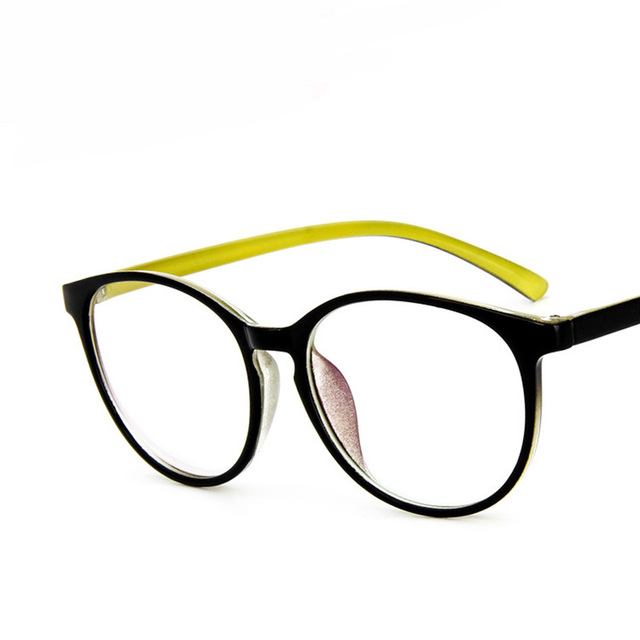Ultra Light Vintage Brand Design Big Round Glasses Frame Eyewear ...