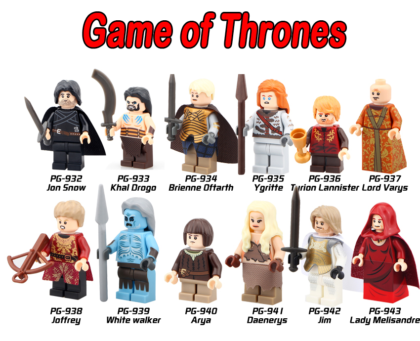 Game of Thrones 12pcs lot Lady Melisandre Jon Snow Lord Varys MOC Ice and Fire Series