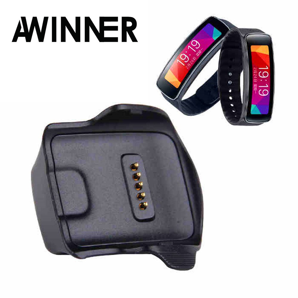 AWINNER Charger Cradle Charging Dock Desktop for Samsung Gear Fit R350 Smart Watch Black (Samsung Galaxy Gear R350)