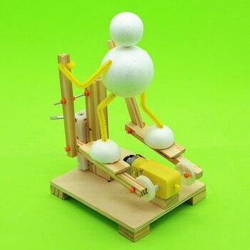 DIY houten stepper wetenschap speelgoed assemblage elliptische machine model kit science onderwijs aid creatieve uitvinding kinderen geschenken