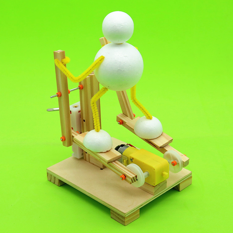 DIY Wooden Stepper Science Toy Assembly Elliptical Machine Model Kit Science Teaching Aid Creative Invention Children's Gifts