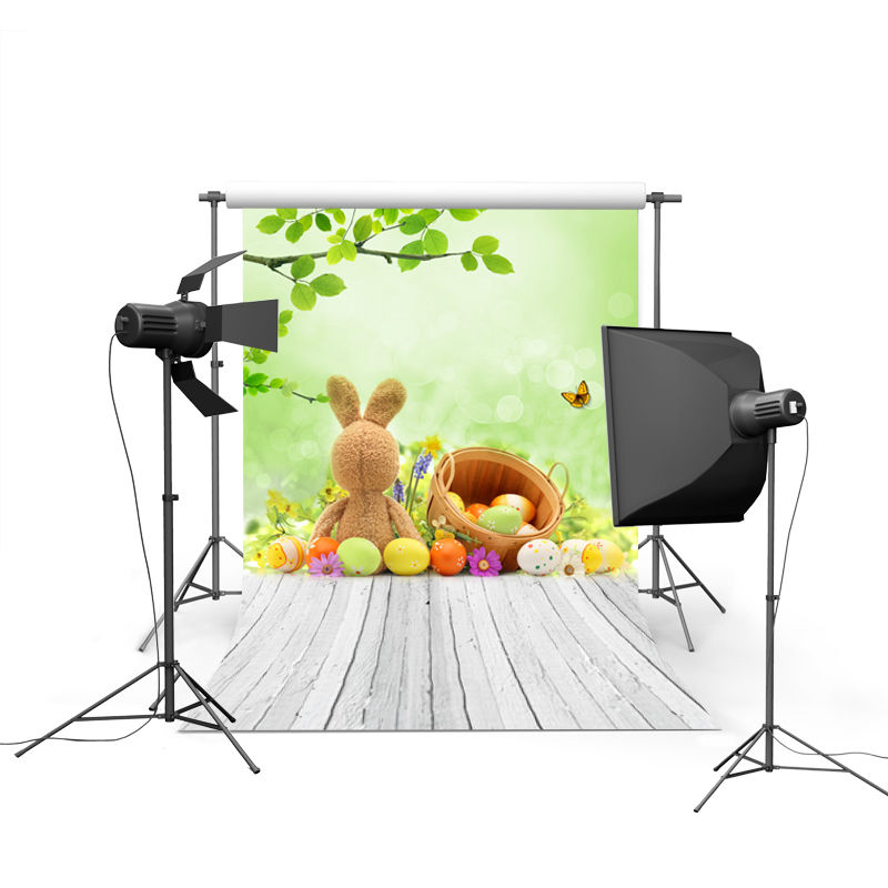 2017 new spring easter photography backdrops eggs chiken new born baby children photographic background Easter Day P0345