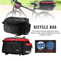 Bicycle Storage Bag Riding Bags Equipment Package Rear Shelf Pack The Hidden Mesh Bag For Riding, Outdoor Climbing Hiking