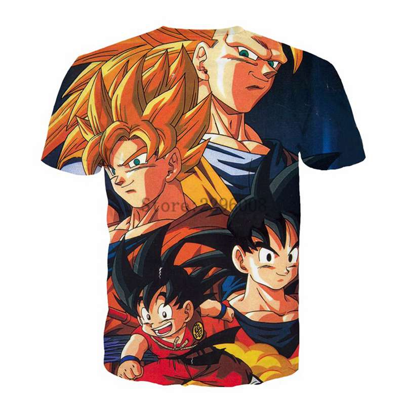 Son Goku Dragon Ball Z Super Saiyan Manga Anime Vegeta Trunks Gohan Mens Tshirt
