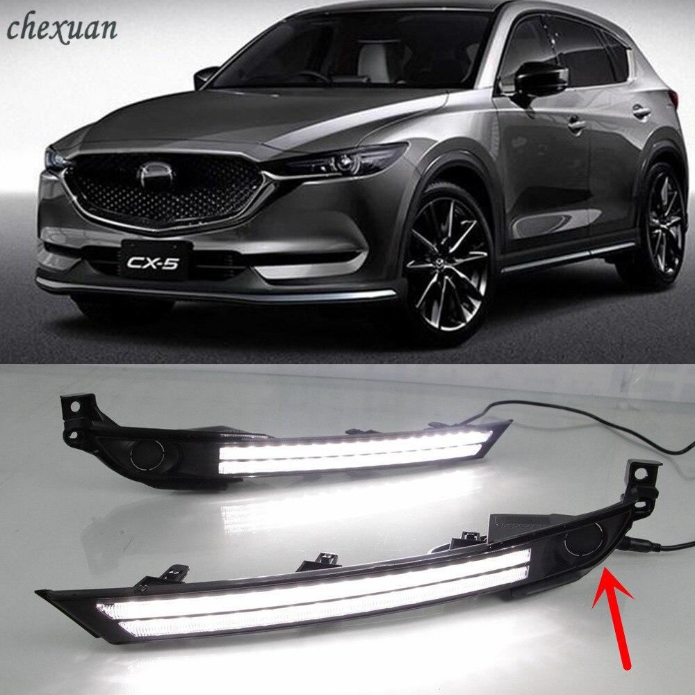 CSCSNL 1 set Car LED 12V Fog Lamp Cover DRL Daytime Running Light with turn signal
