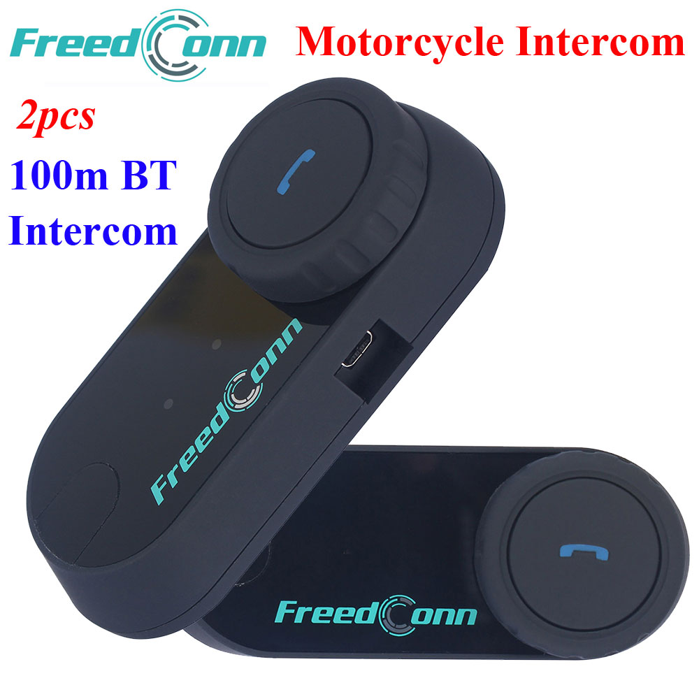 2 set FDC Motorcycle Bluetooth Helmet Interphone Stereo HandFree Headphone Waterproof 100m BT Wireless Helmets Intercom Headsets