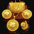 Big Size Ethiopian set Jewelry 24k Gold Plated Necklace/Earring/Ring/Bangle/Pendant Eritrea African Ethiopia Bride Wedding