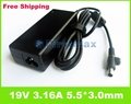 For samsung laptop charger 19V 3.16A R440 R480 R510 R522 R525 R530 R540 AC Power Adapter Charger