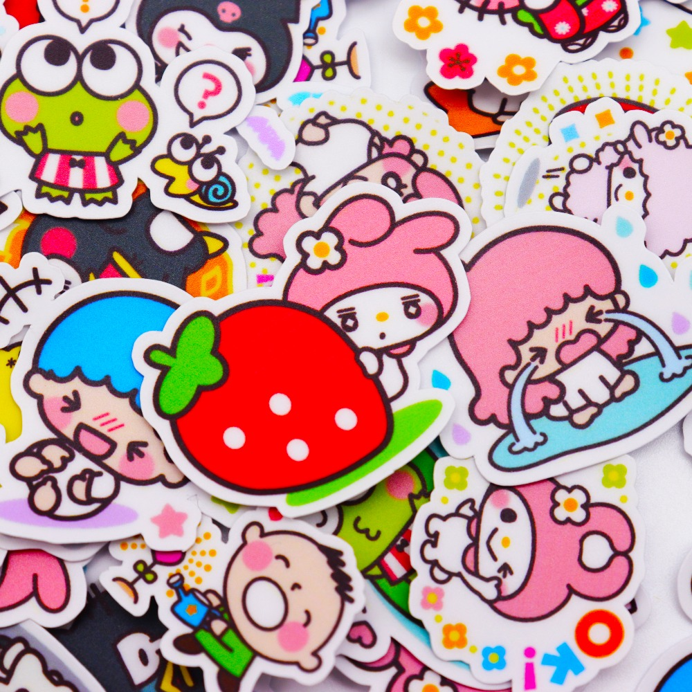 Detail feedback questions about 40pcs creative kawaii self made love sanrio girl stickers beautiful stickers decorative sticker diy craft photo albums on
