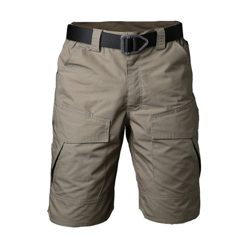 Summer Military Camouflage Cargo Shorts Men Casual Multi Pocket Waterproof Cotton Shorts Ripstop Army Tactical Shorts
