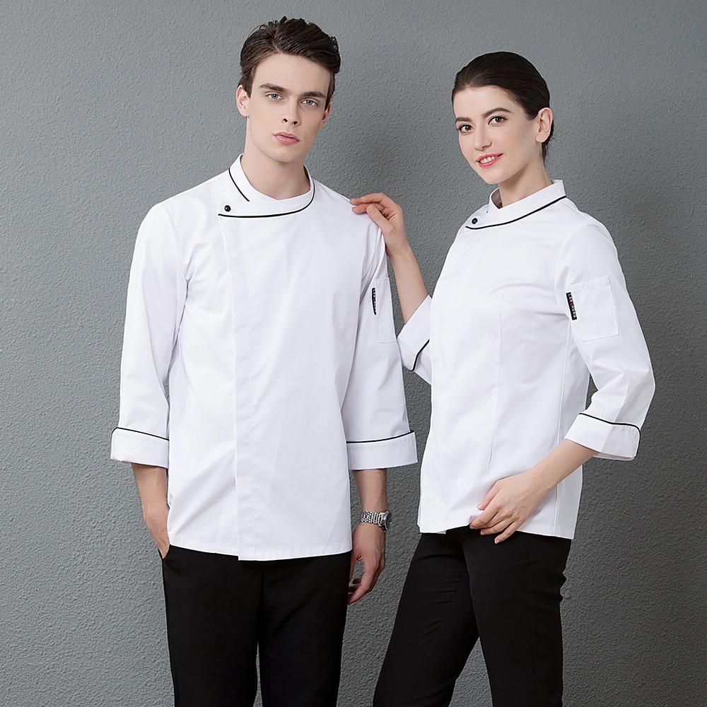 Chef Costume Restaurant Kitchen Uniform BBQ Kitchen High Quality Cooks Clothing Chef Jacket White