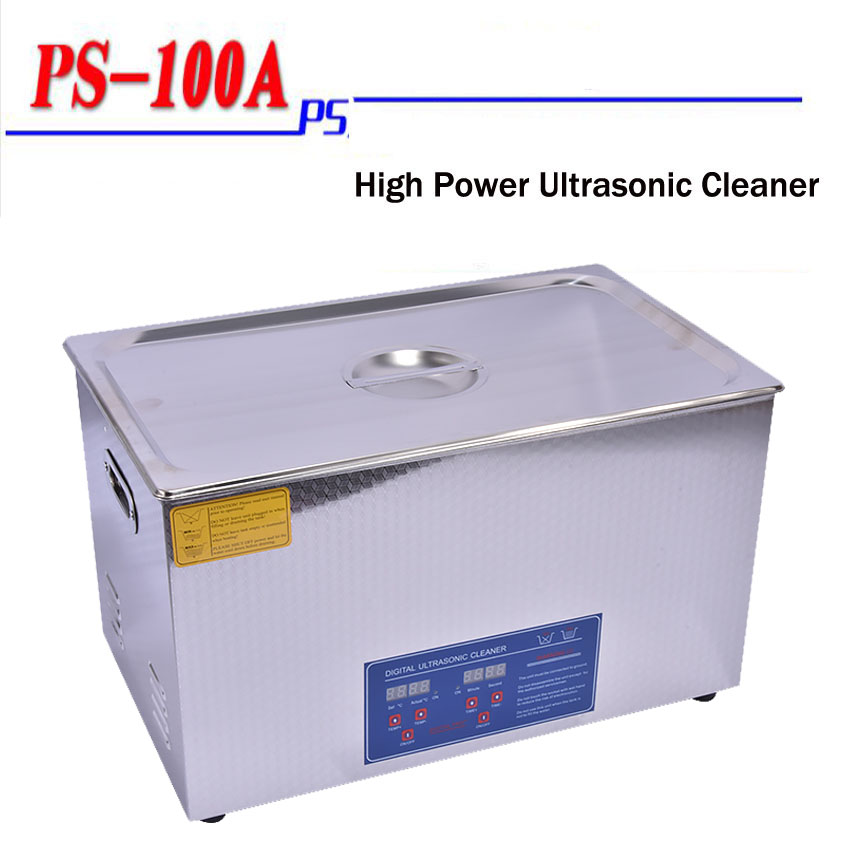 1PC PS-100A 30L Ultrasonic Cleaner + Washing Basket/Digital Control Ultrasonic Washing Machine/motor washing machine is new skiip37nab12t4v1 semikron igbt module