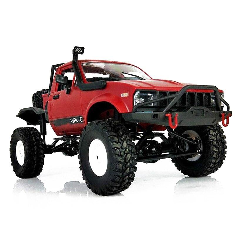 WPL C14 1:16 Échelle 2.4g 2CH 4WD Mini Hors route RC Semi-camion RTR Enfants Montée Camion