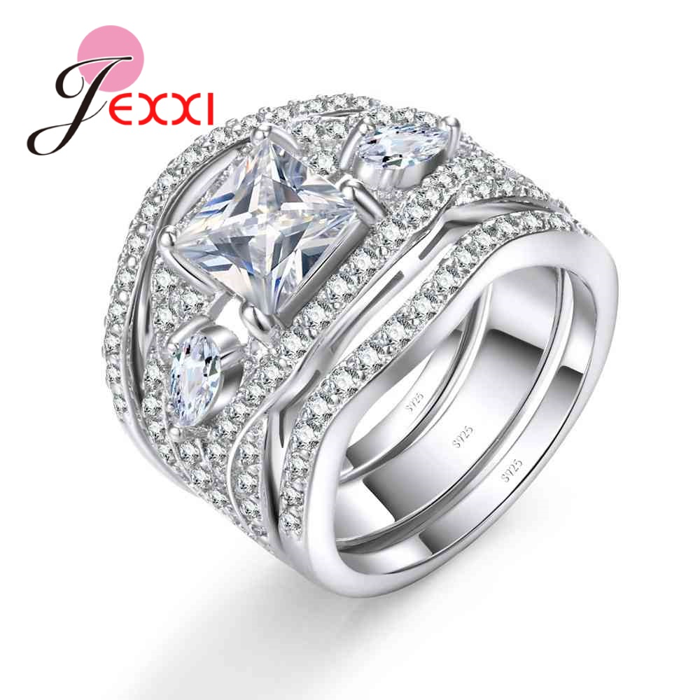 Hot Sale Jexxi Fashion Vintage Wedding Engagement Rings Sets For