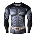 4XL Superman Tights With Full Sleeves  T-shirt Marvel T-shirt Quick Dry 3D Printing Men Fitness Clothing O-neck Causal Tees