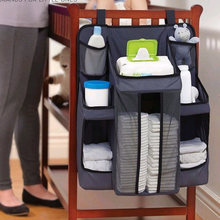 Nordic Baby Nursery Organizer and Crib Bumper Diaper Organizer for Bed Hanging Storage Bag Newborn Nappy Changing Table Set(China)