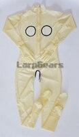 Бесплатная доставка! Женский прозрачный латексный комбинезон ручной работы с носками