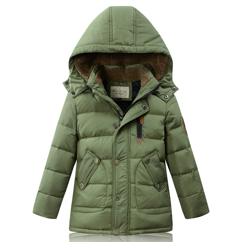 Boys Girls Winter Down Jacket Warm White Duck Down Velvet Long length Coat Outwear Causal Fashion Size for 5, 6, 7,8,9,10 Years russia winter boys girls down jacket boy girl warm thick duck down