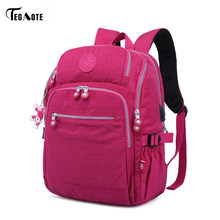 TEGAOTE New Design Women Backpack Casual Original Bolsa School Backpack for Teenage Girls Mochila Escolar With Monkey Keychain(China)