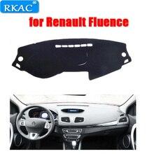 RKAC приборной панели автомобиля DashMat ковра крышка наружное Нескользящие левый руль Авто pad для Renault Fluence автомобиль-Стайлинг