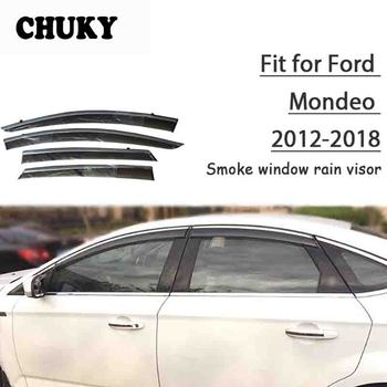 Chuky 4pcs ABS Car Styling Window Visors Awnings Shelters Rain Shield For Ford Mondeo 2010 2011 2012 Auto Accessories
