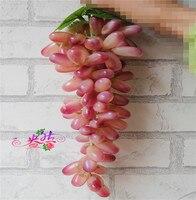 Поддельные фруктовые виноград 85 головки винограда в кластере pastics фрукты 32 см красный/зеленый для дома Новый Год Партия танец реквизит укра...