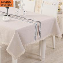 European tablecloth Cotton And Linen Rectangular Simple Tea Table Cloth Household