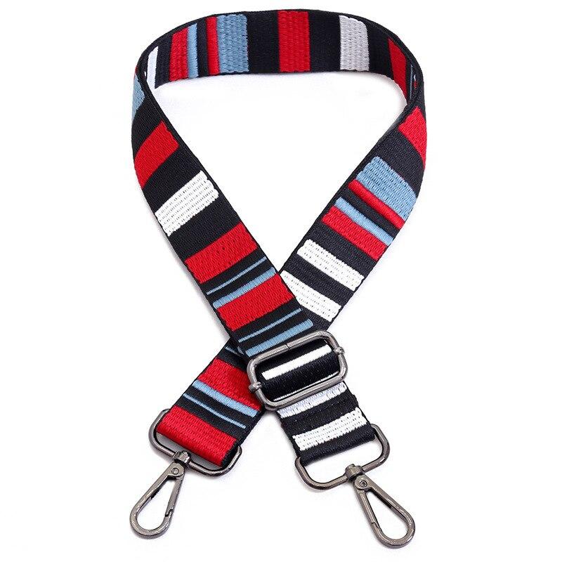 Нейлон цветной Ремень Сумки интимные аксессуары для женщин Радуга Регулируемый на плечо вешалка ремни для сумки декоративные ручк