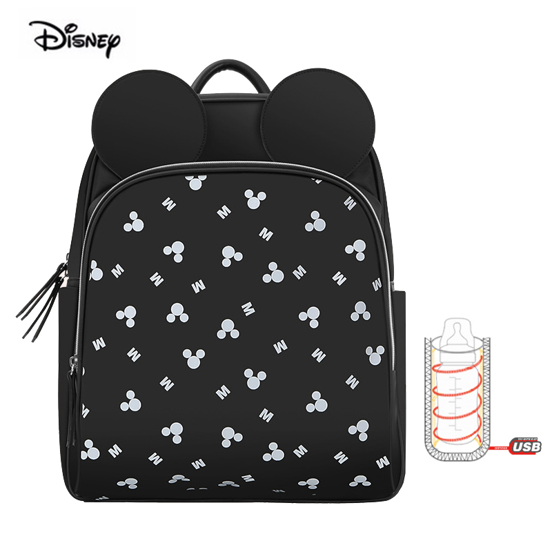 6269ab9a45d1 Disney Diaper Backpack multifunctional fashion large capacity black baby  backpack postpartum waterproof baby bag for travel