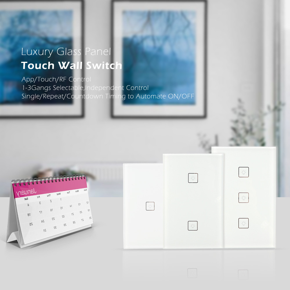HIPERDEAL Smart Home Automation Modules Switch wifi wireless Timing wall Switch Remote Control US for IOS Android dec7