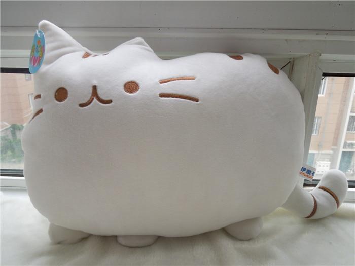 Δωρεάν αποστολή μεγάλο πρόσωπο γάτα βελούδινο παιχνίδι γάτα μαλακό μαξιλάρι γεμιστό 5 χρώμα για να επιλέξετε
