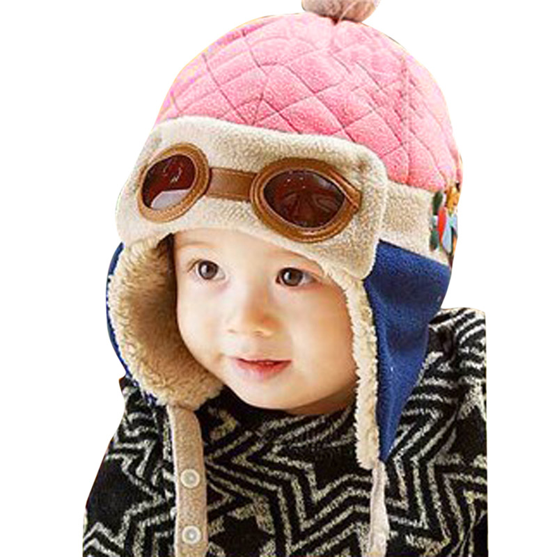 4606da00b59 Baby Pilot Hat Toddlers Kids Cool Aviator Winter Warm Cap for Baby Boy Girl  Infant Ear Flap Soft Hat Beanies-in Hats   Caps from Mother   Kids on ...