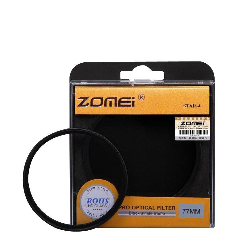 ZOMEI Sterne filter + 4 Punkte + 6 Punkte + 8 Punkte für Canon Nikon DSLR Kamera Objektiv 52/55/58/62/67/72/77/82mm