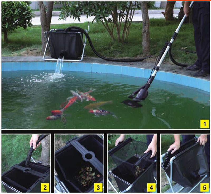 swimming pool cleaner fish pond skimmer fish feces floating trash cleaning machine 135w 8500L h more