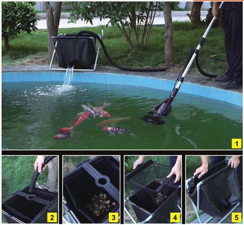swimming <font><b>pool</b></font> cleaner fish pond skimmer fish feces floating trash cleaning machine 135w 8500L/h more power saving than <font><b>vacuum</b></font>